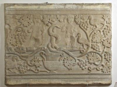 Anonimo bizantino- ravennate (sec. VI), Pluteo raffigurante il Peccato originale
