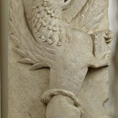 pietra d'Istria, seconda metà sec. XII, cm. 113x54x17, dalla chiesa di Santa Maria Foris Portam di Faenza, N. inv. 53