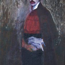 Domenico Baccarini (Faenza, 1882 - 1907), Autoritratto con sottana