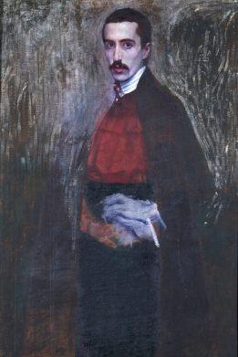 Domenico Baccarini, Autoritratto con sottana