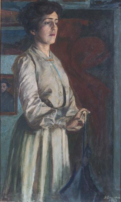 Domenico Baccarini, Portrait of his sister Giovanna (Waiting)