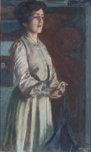 Domenico Baccarini, Ritratto della sorella Giovanna (L'attesa)