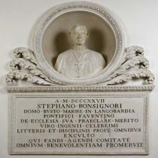 Ballanti Graziani, bottega di (Faenza, sec. XVIII - XIX), Monumento onorario al Vescovo Stefano Bonsignori