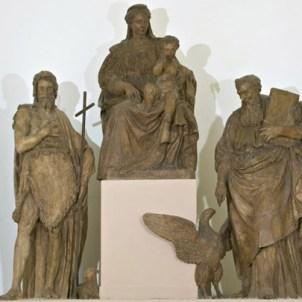 Alfonso Lombardi (Ferrara, 1497 ca. -Bologna, 1537), Madonna col Bambino e i Santi Giovanni Evangelista e Giovanni Battista