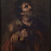 Giovanni Battista Langetti (Genova, 1635 - Venezia, 1676), Mendico cieco (Belisario ?)