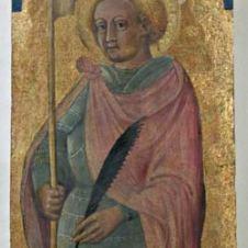 tavola, sec. XV, cm. 30.5x19, dalla chiesa di Santa Maria Foris Portam di Faenza, N. inv. 95