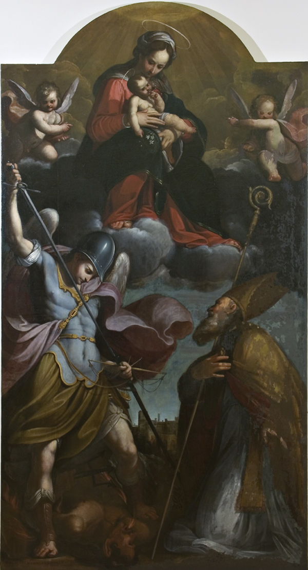 Benedetto Marini, Madonna with Child, St. Michael the Archangel and a Saint Bishop