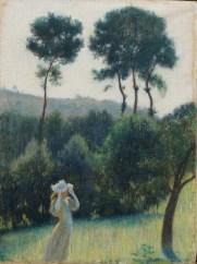 FEDERICO ZANDOMENEGHI (1841-1917) I quattro pioppi