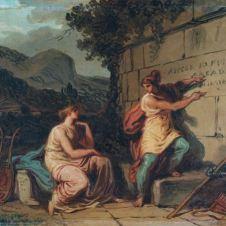 Felice Giani (San Sebastiano Curone, 1758 - Roma, 1823), Et in arcadia ego