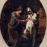FELICE GIANI (1758-1823) Rea Silvia e la Principessa Anto Olio su tela, cm 30 x 22,5 Inv. n. 483 Provenienza: donazione Zauli Naldi, 1965, n. 34