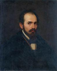 FRANCESCO PODESTI (1800-1895) Ritratto di Achille Calzi Sr. Olio su tela, cm 70 x 57 Inv. n. 817 Provenienza: acquistato nel 1892