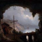 TEODORO DUCLERE (1815-1869) La grotta di S.Francesco presso Amalfi Olio su tela, cm 50 x 62 Inv. n. 276 Provenienza: donazione Golfieri, 1989