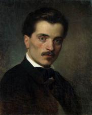 LUIGI BECHI (1830-1919) Ritratto di Antonio Berti Olio su tela, cm 48,5 x 39 Inv. n. 810 Provenienza: donazione A.Mazzotti, 1912