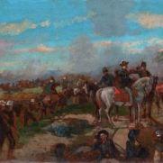 MICHELE CAMMARANO (1835-1920) La Battaglia di S.Martino Olio su cartone, cm 20 x 37 Inv. n. 312 Firmato in basso a sinistra: M.Cammarano Provenienza: donazione Golfieri, 1989