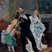 FRANCESCO PELUSO (1836-post1916) Dopo il veglione Olio su tela, cm 35 x 21 Inv. n. 847 Provenienza: lascito Paolo Galli, 1938 n. 20