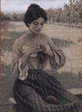 La cugina che fa la calza, 1905