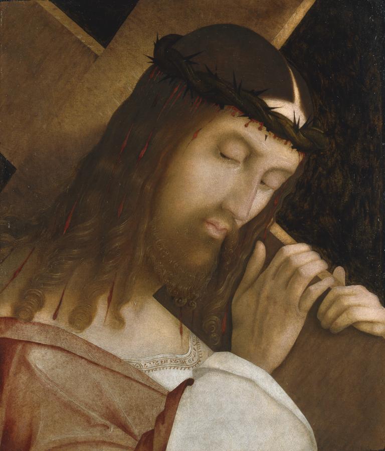 Cristo portacroce, Bernardino Zaganelli, 1508 -1509, Olio su Tavola, cm 37 x 31, Brera