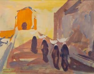 Giuseppe Tampieri, I tre ponti a Comacchio, 1955
