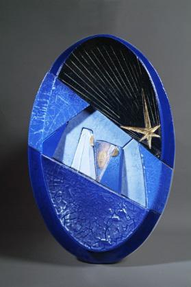 Natività in blu, (Ispirata al blu delle antiche maioliche faentine), 2007, Laghi Luciano