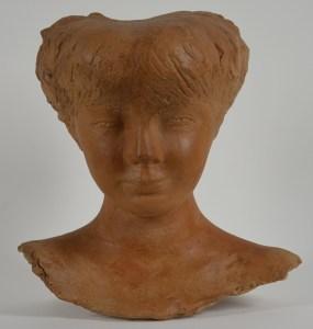 Particolare della scultura Figura, 1948, Tampieri