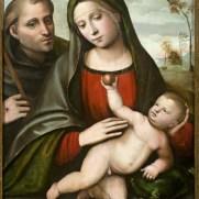 Giacomo Francia Madonna col Bambino e San Francesco