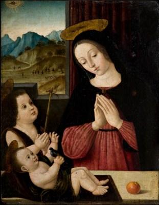 Giovanni Battista Bertucci il Vecchio, (ambito), Madonna col Bambino e San Giovannino