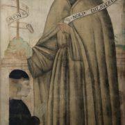 Anonimo romagnolo (sec. XV), Astorgio III Manfredi e il Beato Bernardino da Feltre