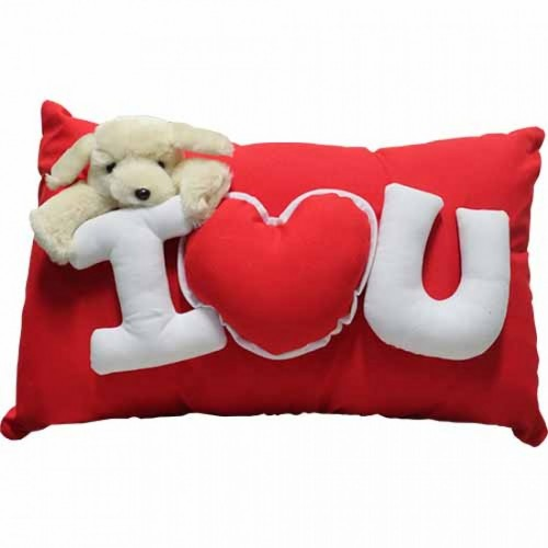 wesley pillow w i love you by bear huggs