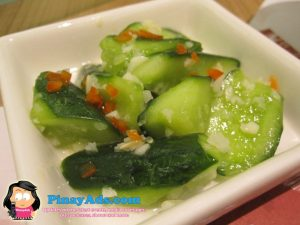 Cold Cucumber with Minced Garlic in Sesame Oil
