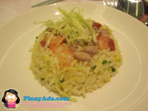 Fried Rice with Diced Chinese Sausage, Shrimp and Egg in Yang Zhou Style