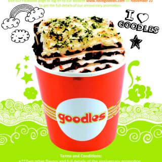 Goodles 1st Year Anniversary Promo:  One Day Only! Goodles' P100 Pasta Promotion