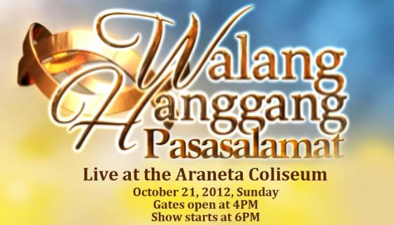 """Walang Hanggan"" Concert At The Big Dome Slated On Oct. 21"