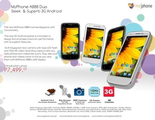 official myphone a888