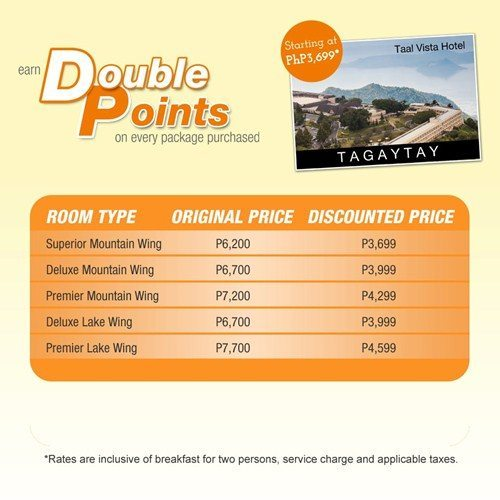 Taal Vista Hotel Promo Package