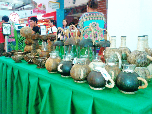 Coconut Shell designs by SA'TIN Crafts.