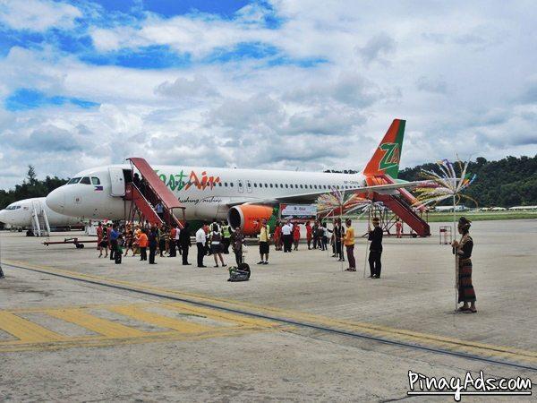 Zest Air successfully made its maiden flight from Manila to Kota Kinabalu, Sabah, Malaysia