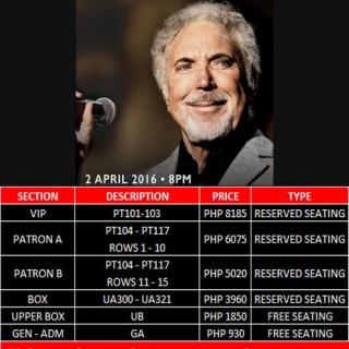 Tom Jones live in Manila! April 2, 2016