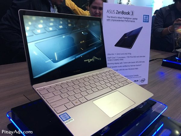 ASUS ZenBook 3: The World's Most Prestigious Laptop with Unprecedented Performance