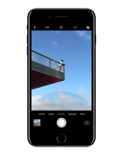 The dual 12-megapixel cameras on iPhone 7 Plus work together to offer 2x optical zoom and up to 10x digital zoom for photos.
