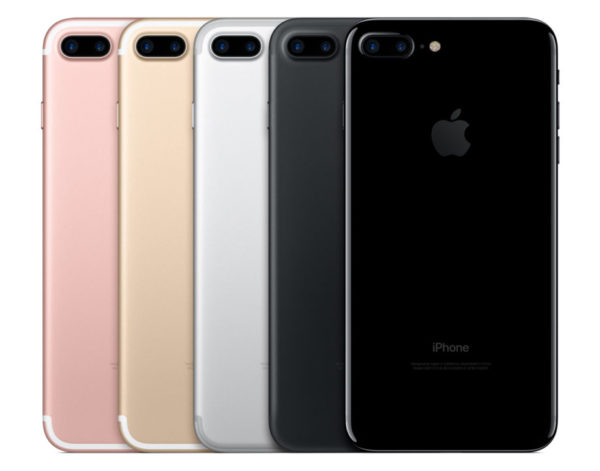 iPhone 7 comes in five colors including two all-new black finishes: a beautiful black matte finish and an innovative jet black finish with a deep high gloss look.