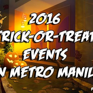 2016 Trick-or-Treat Events in Metro Manila