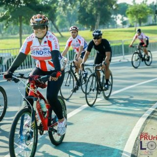 Pru Life UK advocates safe cycling in PRUride to London, McKinley's first ever cycling event