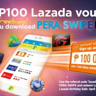 Lazada Philippines Offers P100 Discount Vouchers to PERA SWIPE Users