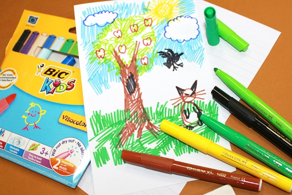 BIC® launches a collection of coloring products designed especially for kids