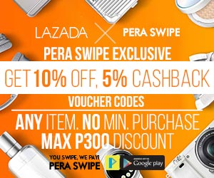 Get 15% LAZADA benefit from PERA SWIPE