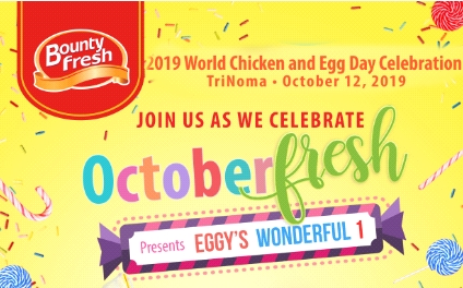 Fresh Events for October: Bounty Fresh's OctoberFresh, a First Birthday Party, and World Chicken and Egg Day 2019