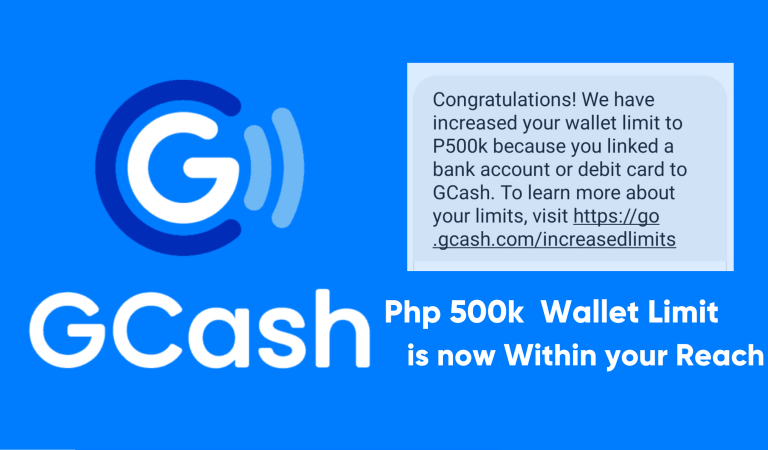 Php 500k GCash Wallet Limit is now Within your Reach
