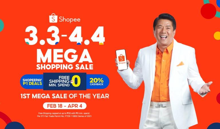 Shopee Kicks Off 3.3 – 4.4 Mega Shopping Sale with its Newest Brand Ambassador, Willie Revillame