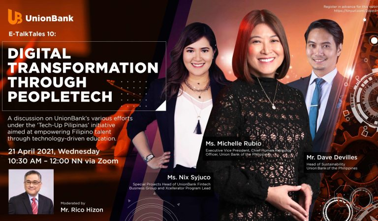 UnionBank holds 10th E-TalkTales focusing on 'People Tech' advocacy
