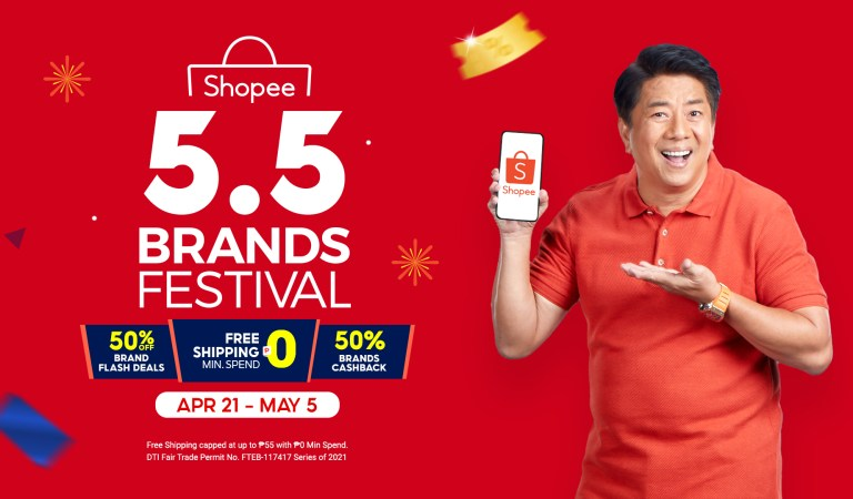 Enjoy Exclusive Deals and Discounts from Well-Loved Brands at Shopee 5.5 Brands Festival
